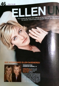 "Chandler Rabens, ""Ellen Uncensored,"" Teen People. February 2006. Page 1."